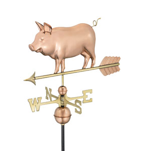 Country Pig on Arrow Weathervane