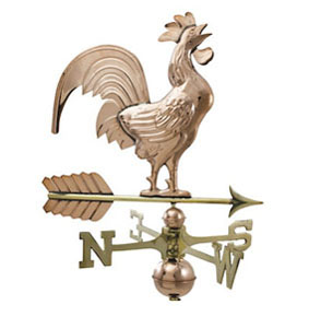 Small Crowing Rooster on Arrow Weathervane