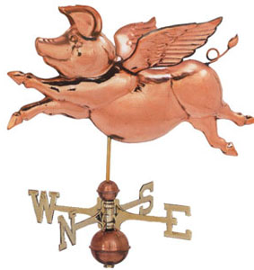 Flying Pig With wings Weathervane
