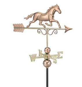 Galloping Horse on Arrow Weathervane