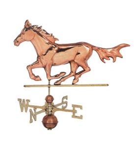 Horse on the Run copper weathervane