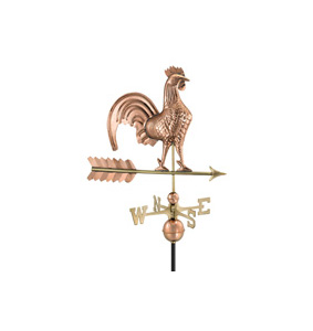 Classic Rooster on Arrow Wind vane