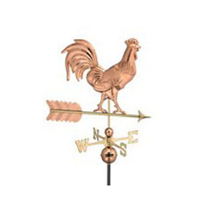 Smithsonian Rooster on Arrow Weathervane